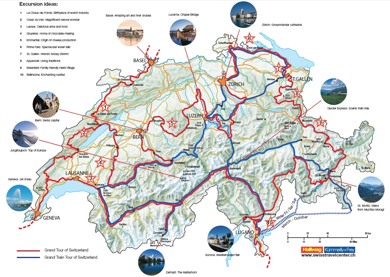 Grand Tour of Switzerland – Switzerland Travel Map