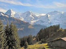 Eiger, Moench and Jungfrau dominate the Bernese Oberland