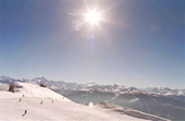 Skiing in Crans-Montana with fantastic Alpine Panorama