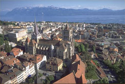 Lausanne, Lake Geneva and the French Alps