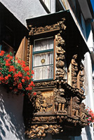 Wooden Oriel Windows in St. Gallen