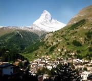 Zermatt in summer - the Matterhorn in Switzerland