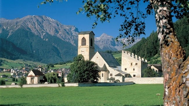 Unesco Benedictine Monastery St Johann M 252 Stair Magic Switzerland